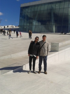 Me and Tom in front of the Opera building
