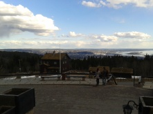 A view of Oslo from the hills