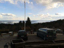A view of Oslo and Oslofjord from the hills