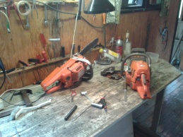 Chainsaw repair shop