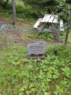 Grave of the former land owner