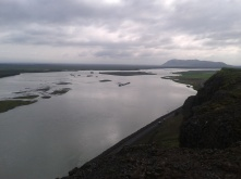 Thjorsa river from a lookout point