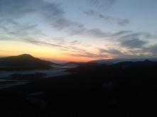 Glacier under the rising sun