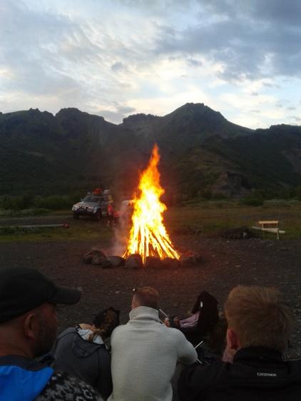 Bonfire in Thorsmork