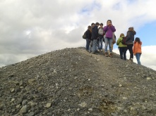 Group on the highest peak in the area