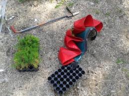 Planting equipment.